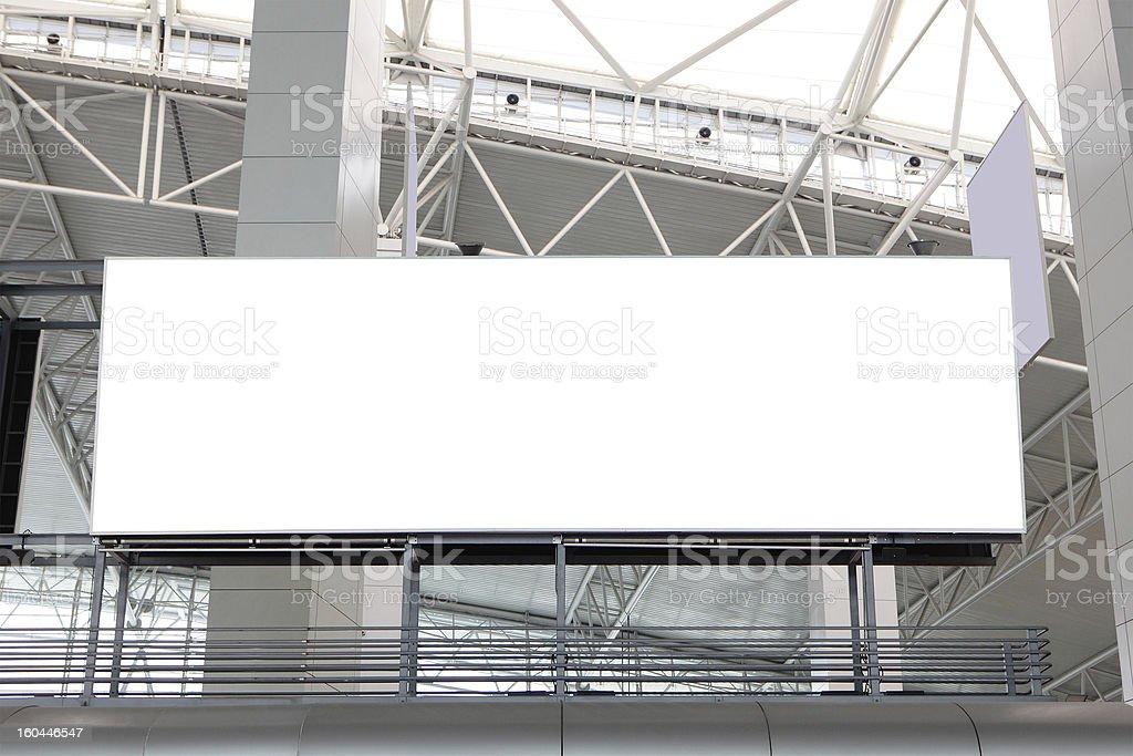 huge Blank Billboard at airport royalty-free stock photo