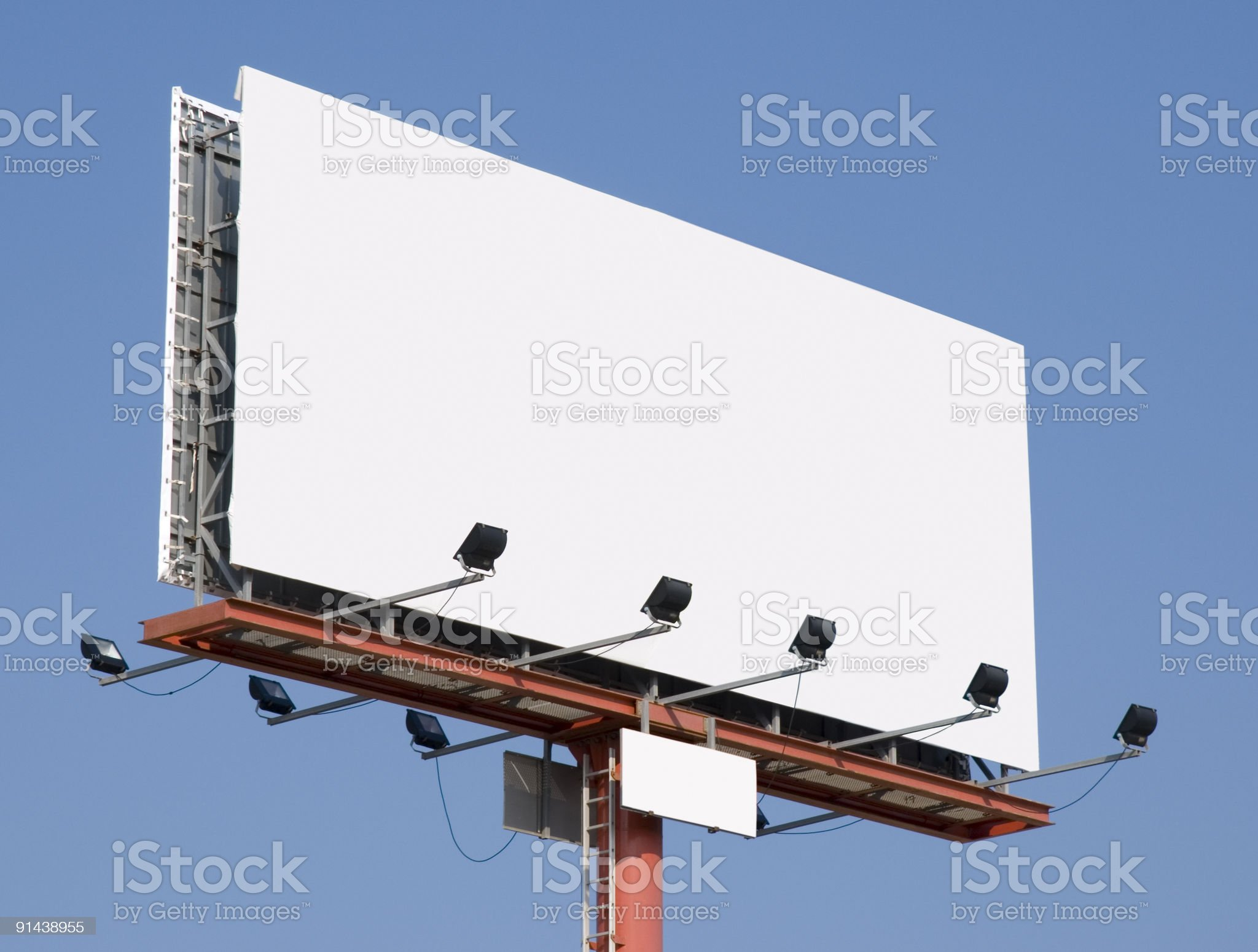 Huge blank billboard [ clipping path ] royalty-free stock photo