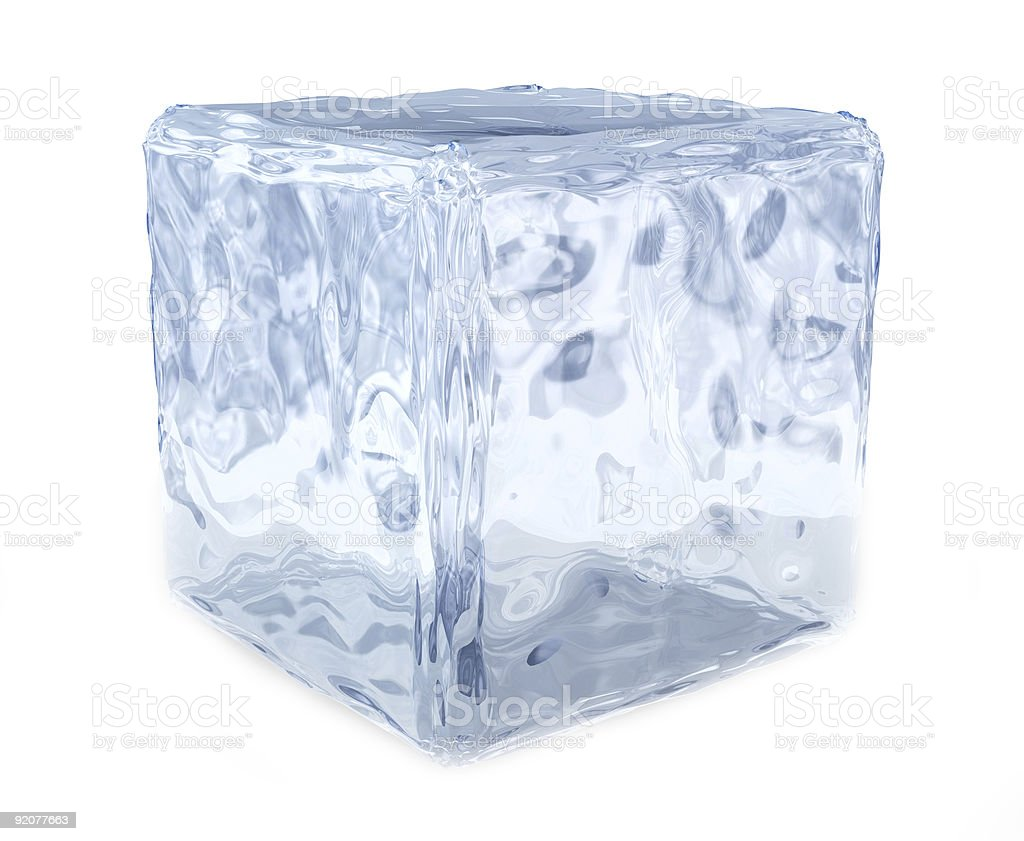 Huge block of cubed ice with white background royalty-free stock photo