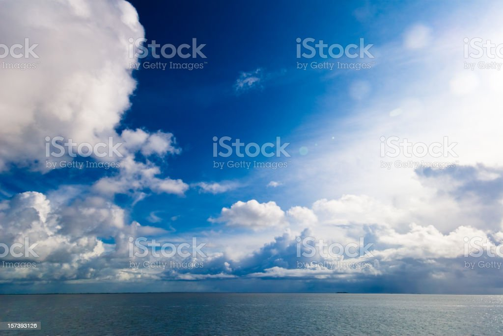 Huge blue sky over the sea royalty-free stock photo