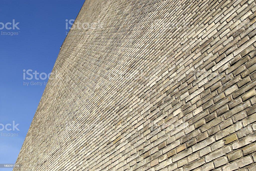 Huge Brick Wall Facade stock photo