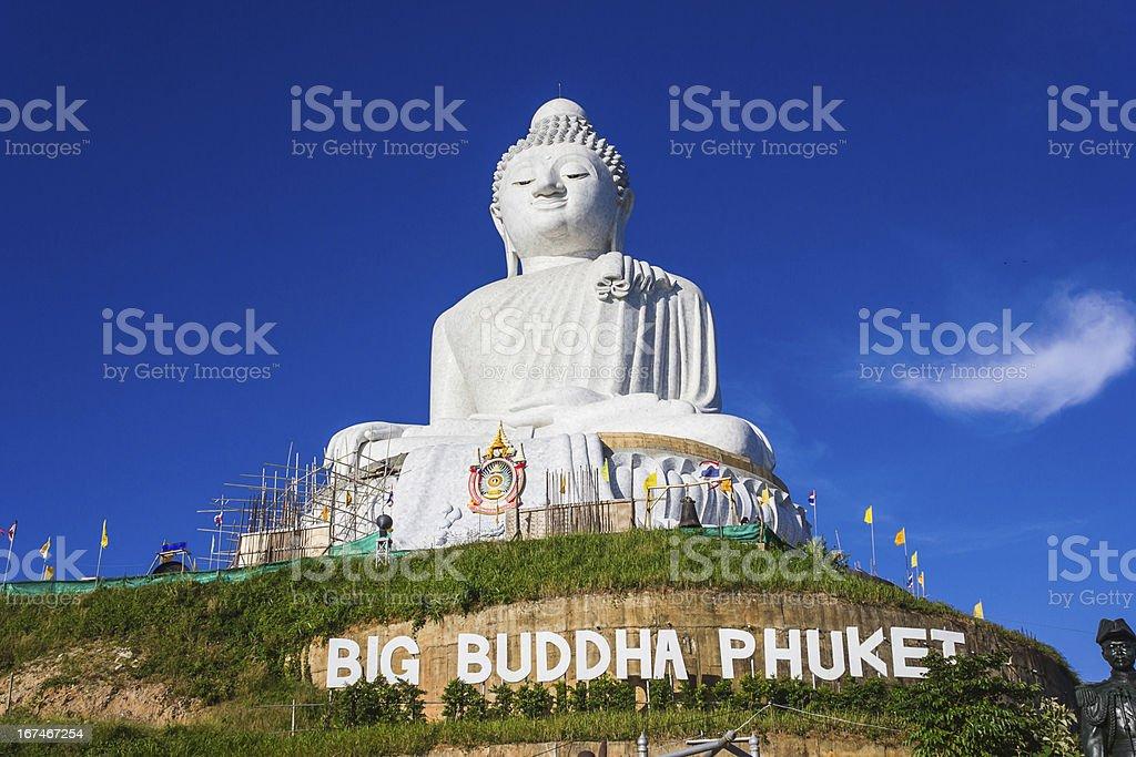 Huge Buddha monument in Phuket, Thailand stock photo