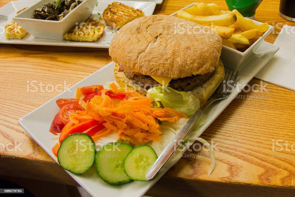 Huge burger! stock photo