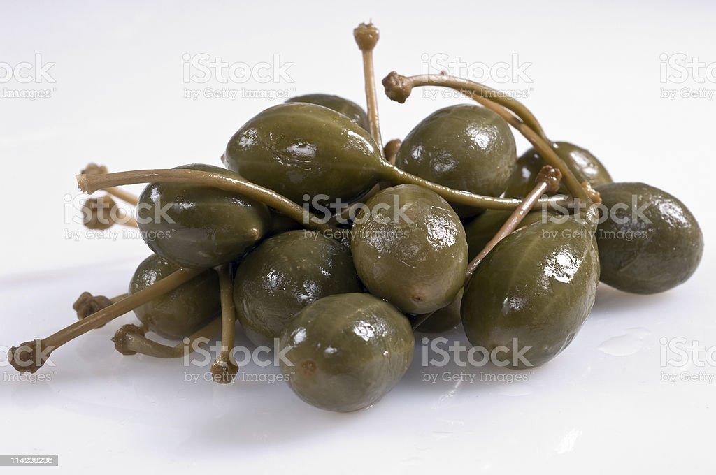 Huge Capers stock photo