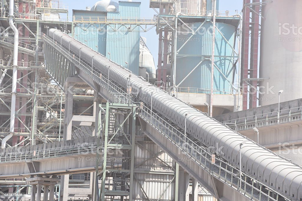 Huge Cement Factor stock photo