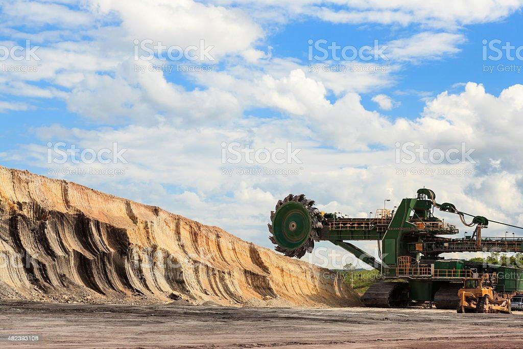 huge coal mining coal machine stock photo