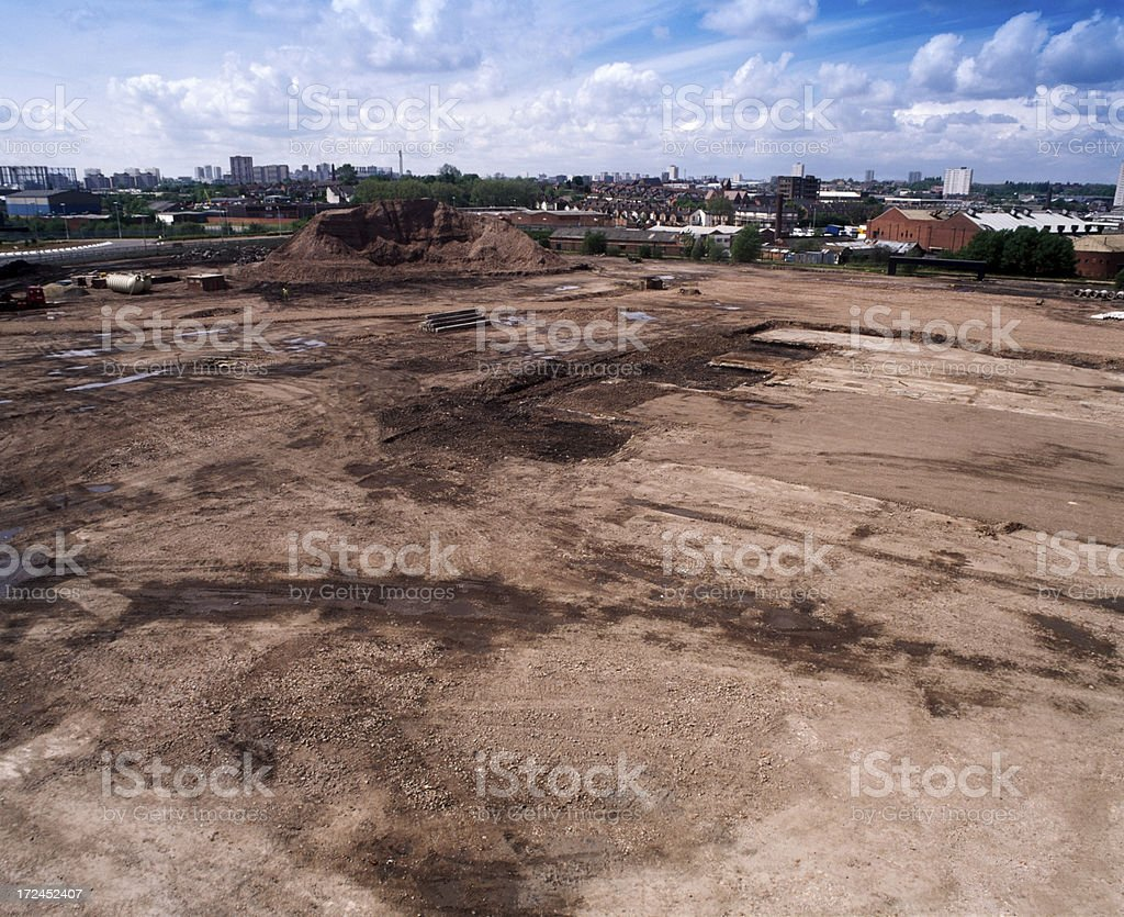 Huge construction site royalty-free stock photo
