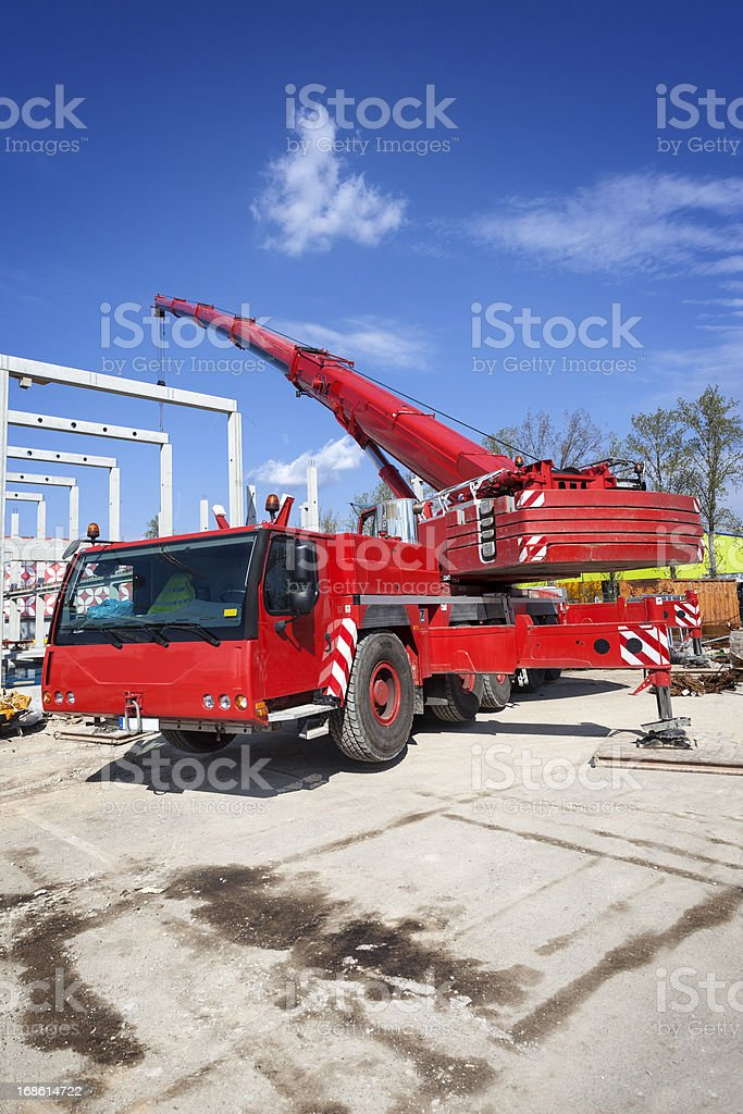 Huge crane at construction site royalty-free stock photo