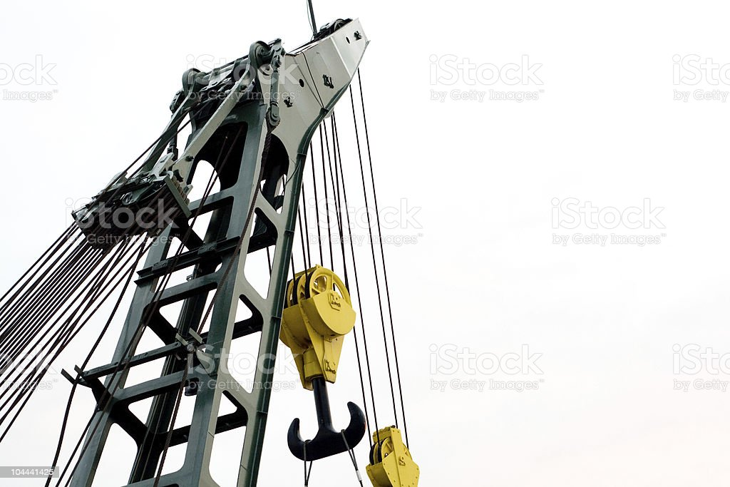 huge crane royalty-free stock photo
