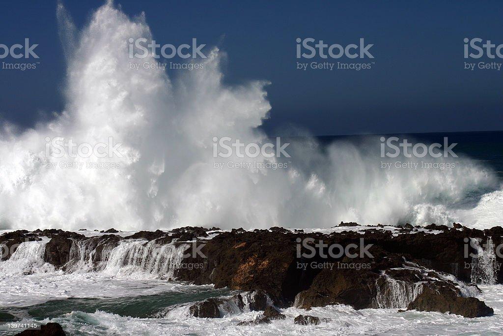 Huge Crash stock photo