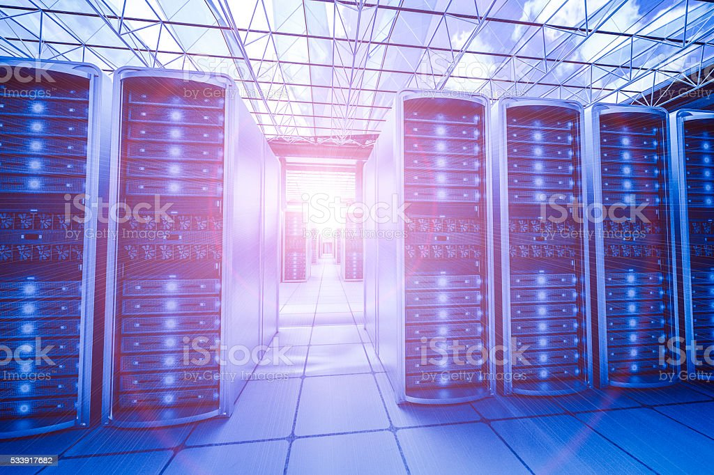 huge data center stock photo