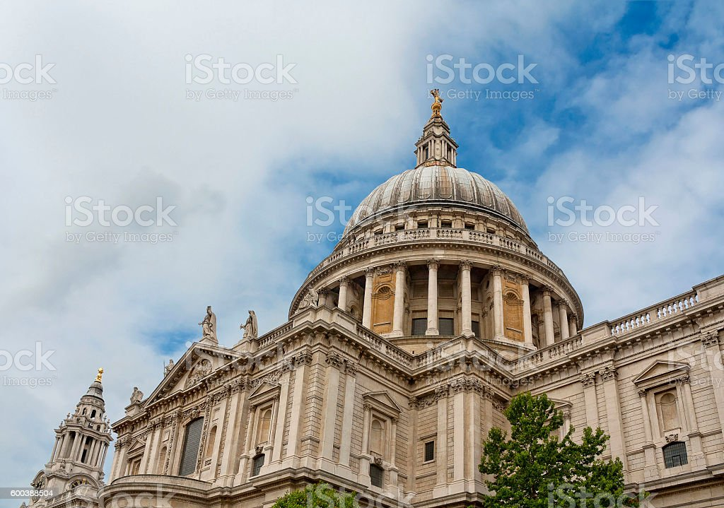 Huge dome of St Paul's Cathedral in London, United Kingdom stock photo