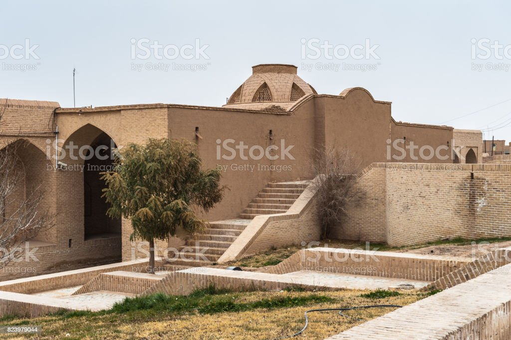 Huge dovecote in Meybod, Iran. One of the touristic attractions in Meybod stock photo