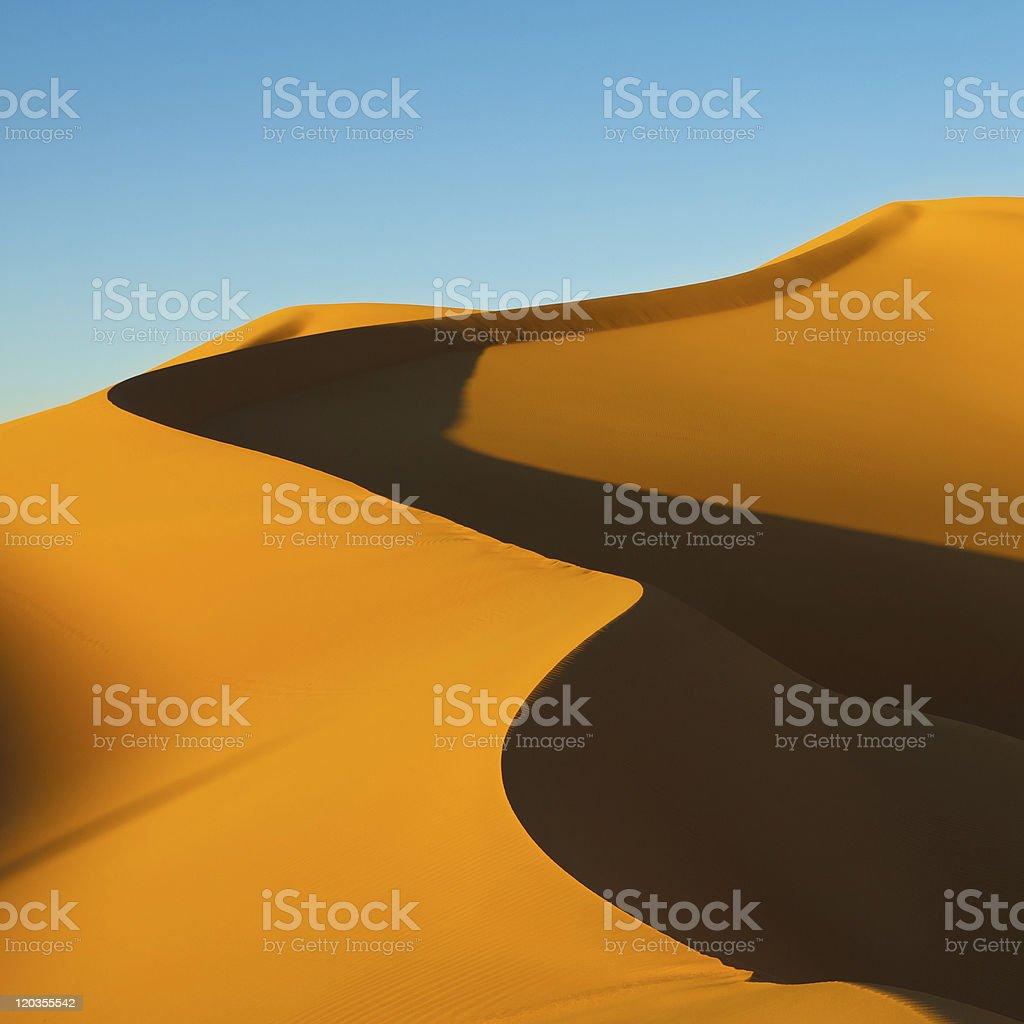 Huge Dune - Awbari Sand Sea, Sahara Desert, Libya royalty-free stock photo