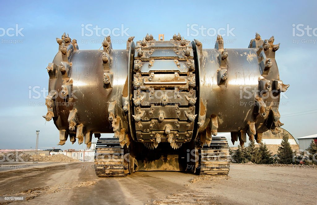 huge earth mover stock photo