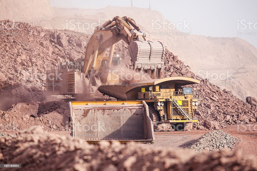 Huge Excavator. Mining stock photo
