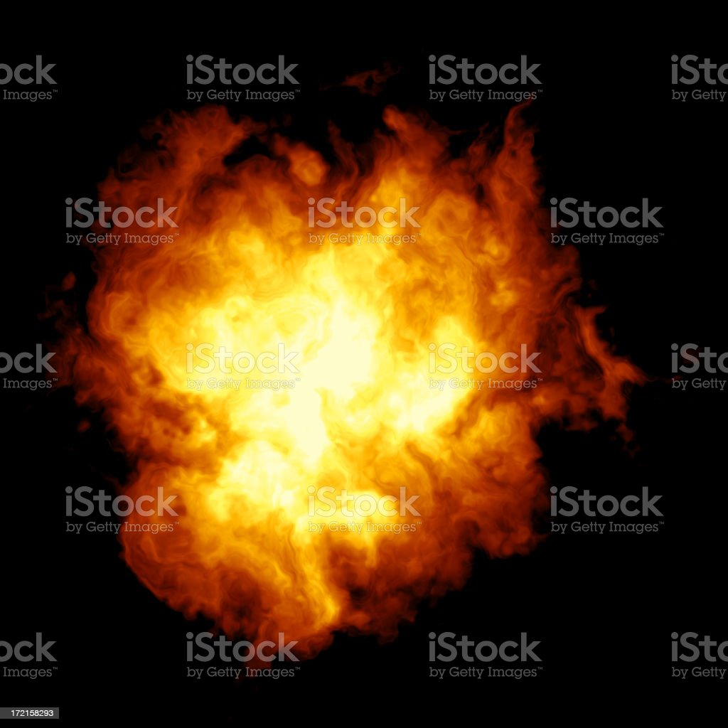A huge explosion creating a ball of fire royalty-free stock photo