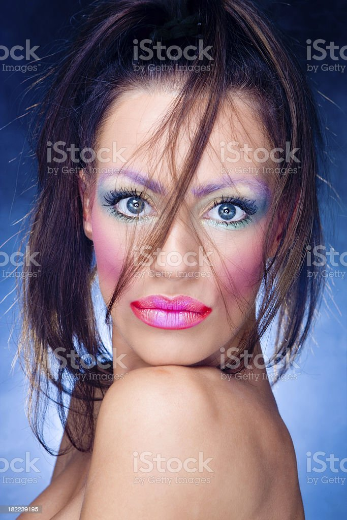 Huge eyed beauty stock photo