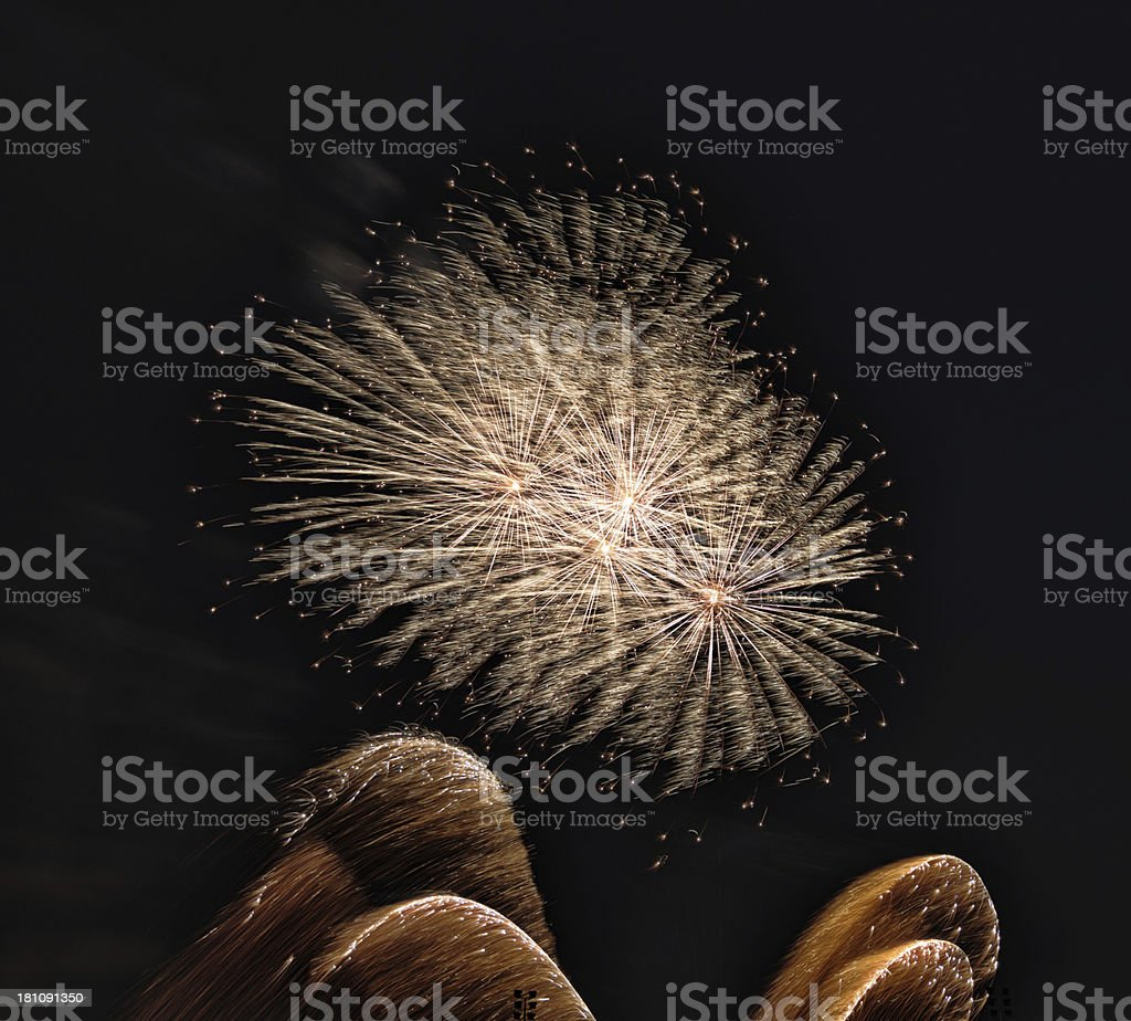huge firework royalty-free stock photo