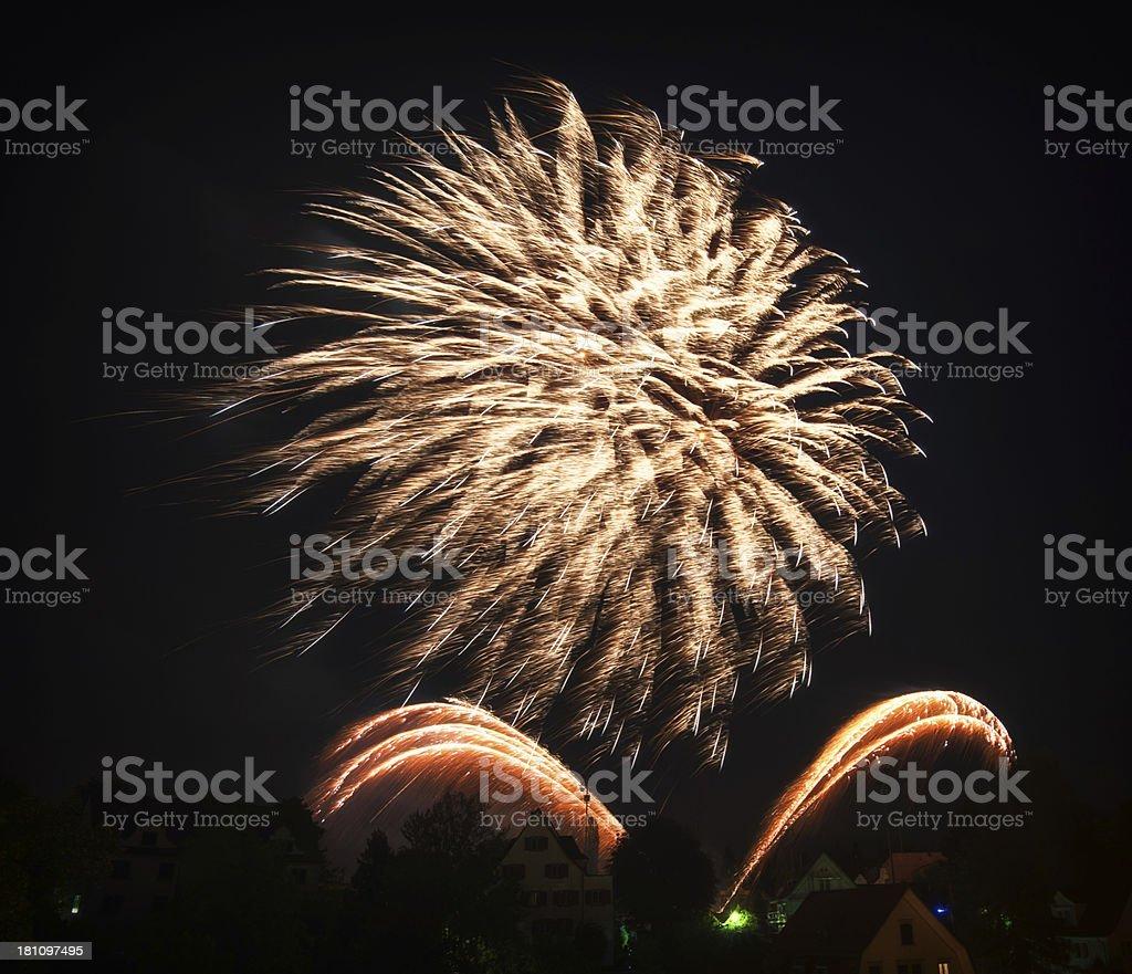 huge firework royalty-free stock photo