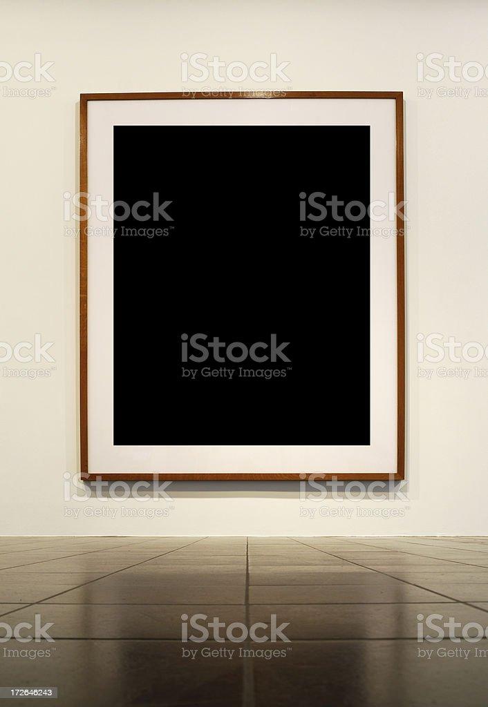 huge frame in modern loft royalty-free stock photo