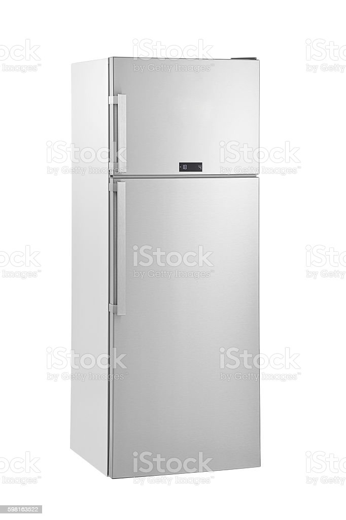 huge fridge stock photo