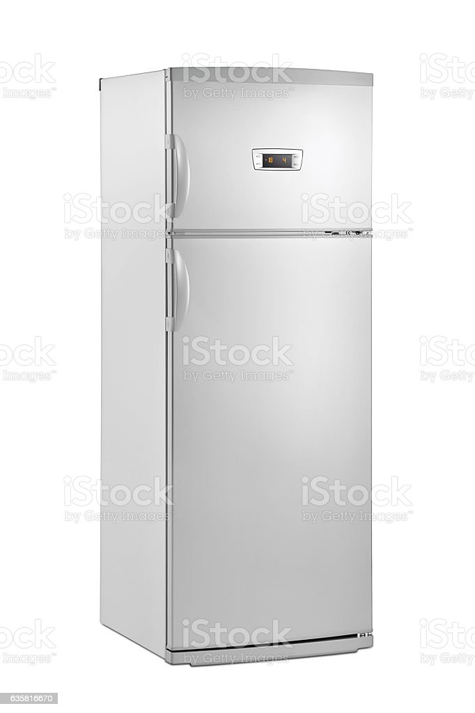 huge fridge(clipping path) stock photo