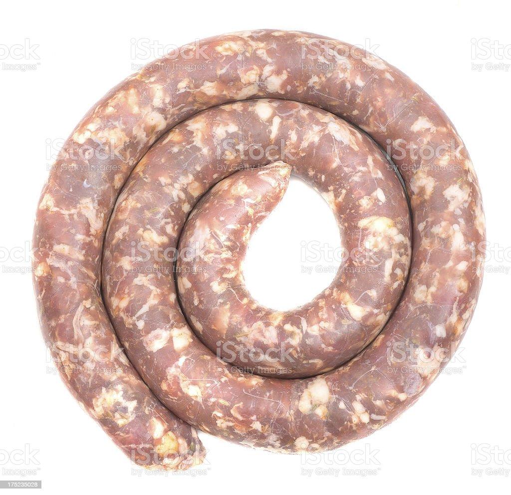 huge frying sausage stock photo