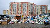 Huge garbage dump on the residential quarter