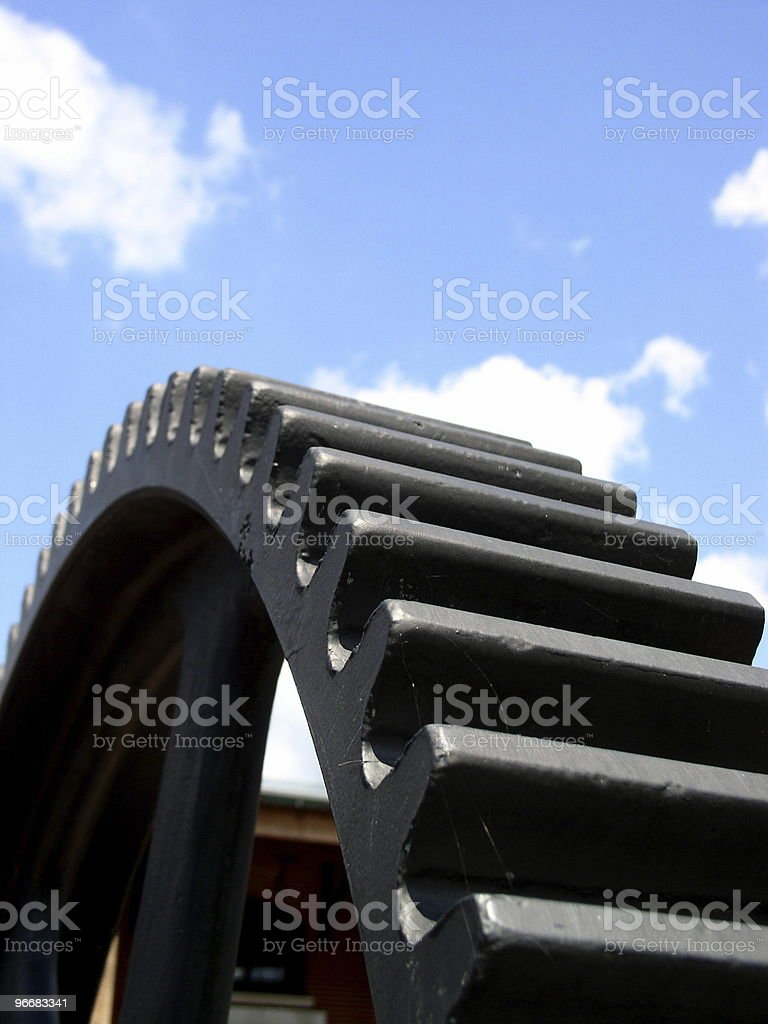 Huge gear arches under sky royalty-free stock photo