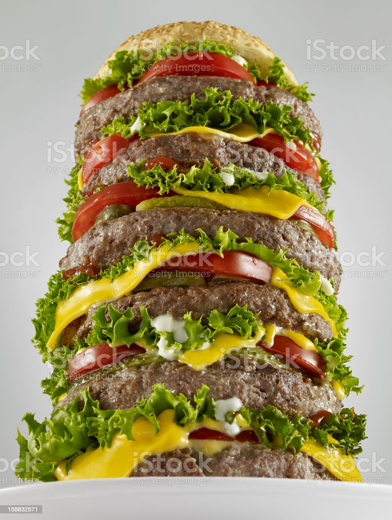 Huge Hamburger royalty-free stock photo