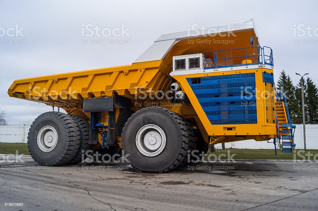 Huge Haul Truck Copy Space Background stock photo