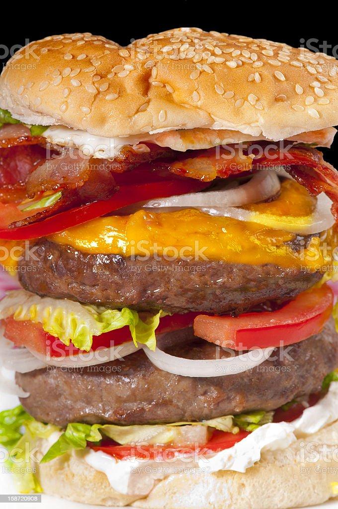 Huge home-made hamburger. royalty-free stock photo