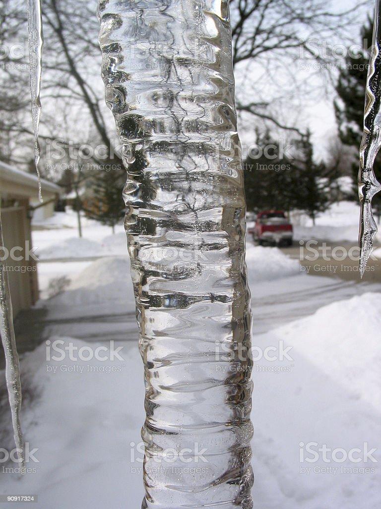 Huge icicle stock photo
