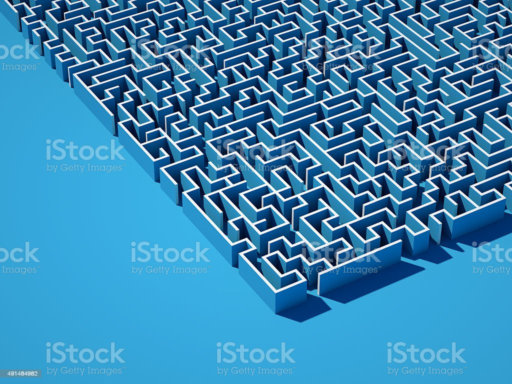 Huge labyrinth stock photo