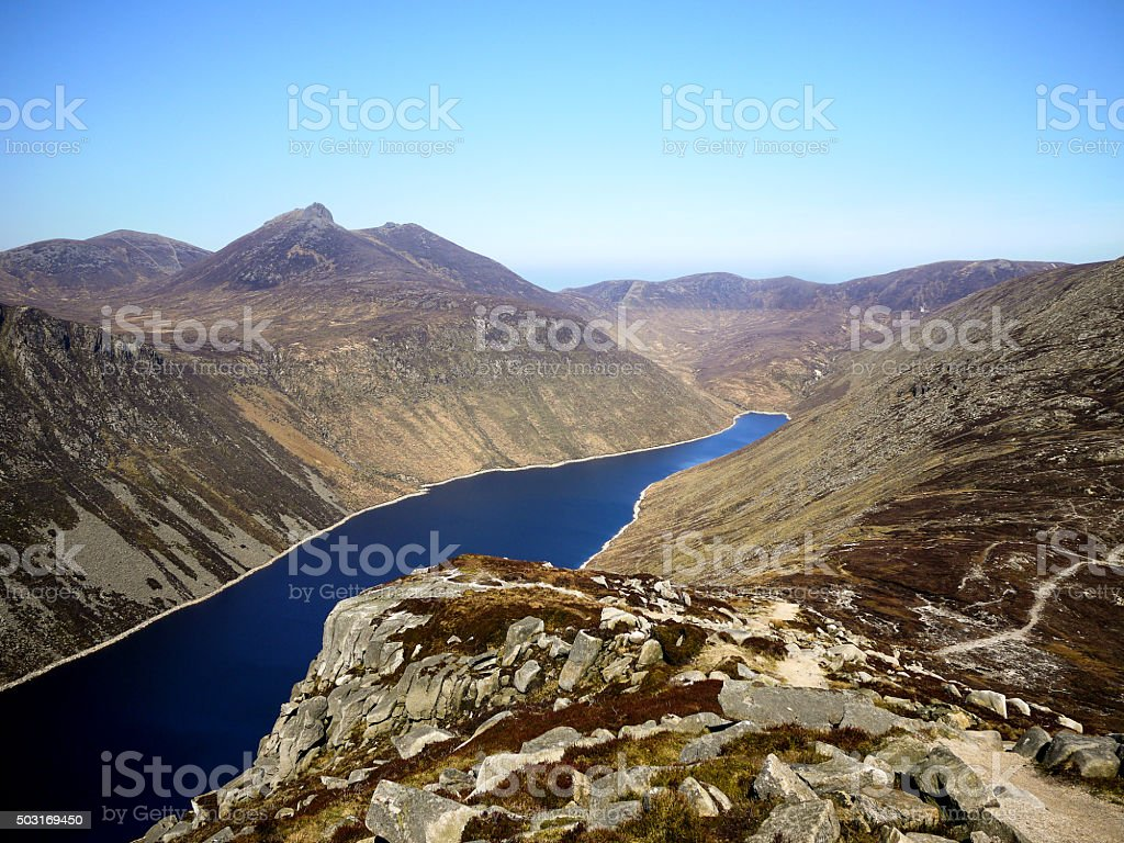 Huge Lake (Reservoir) in the Mourne Mountains stock photo