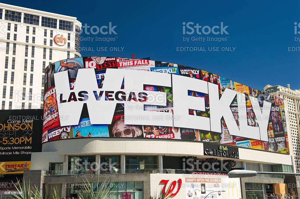 Huge LED Sign, Las Vegas stock photo