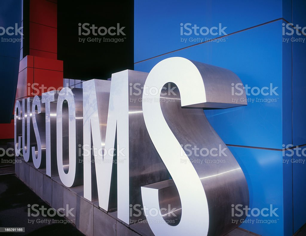 A huge letter ensemble for customs royalty-free stock photo
