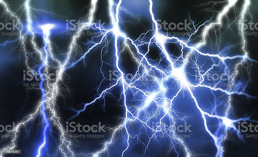 Huge lightning royalty-free stock photo