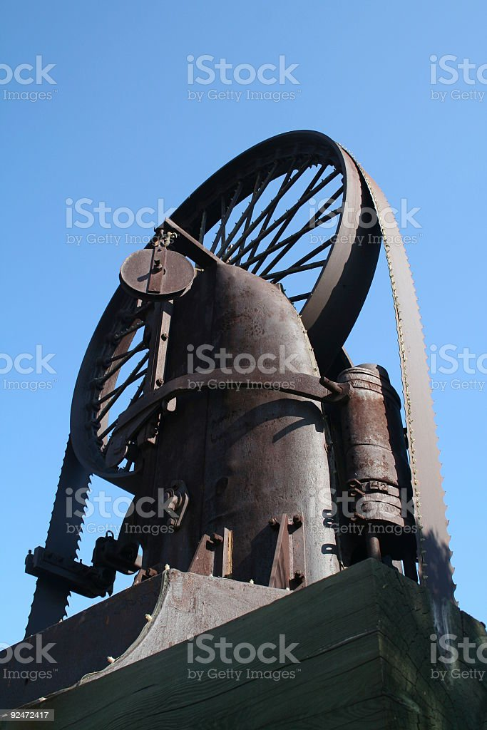 Huge Lumber Bandsaw stock photo