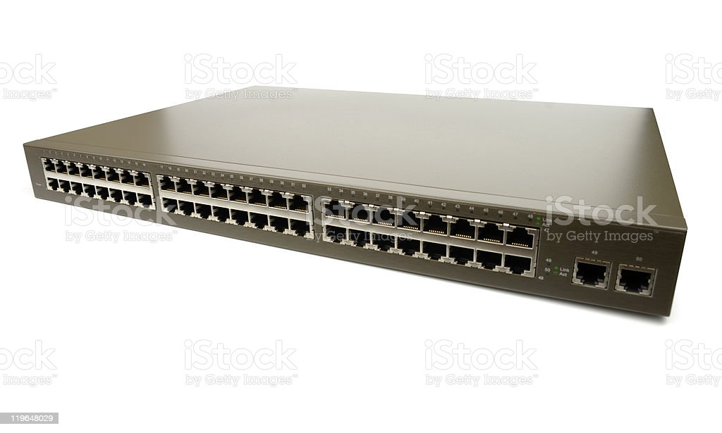 Huge Network Switch stock photo