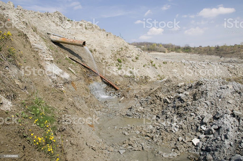 Huge opencast mine stock photo