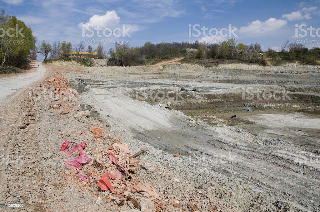 Huge opencast mine royalty-free stock photo