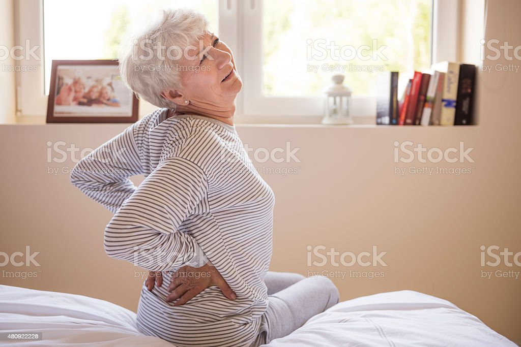 Huge pain of my back stock photo