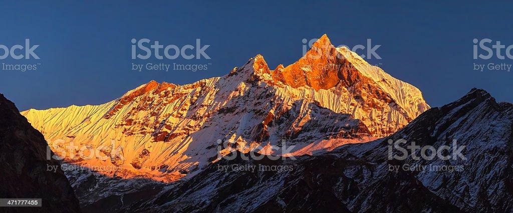 huge panorama of Machapuchare / machpuchre - fishtail royalty-free stock photo