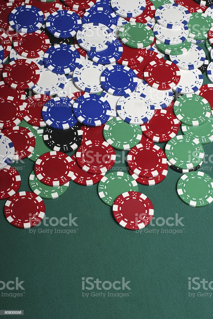 Huge pile of chips with copy space royalty-free stock photo
