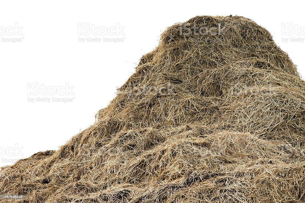 Huge pile of hay stock photo