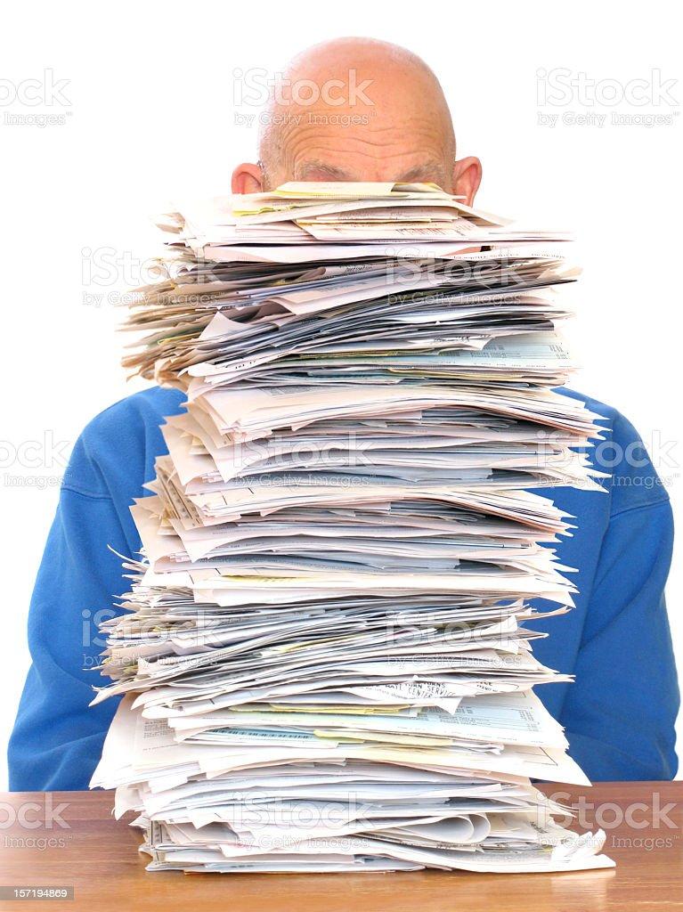 Huge Pile of Paperwork royalty-free stock photo