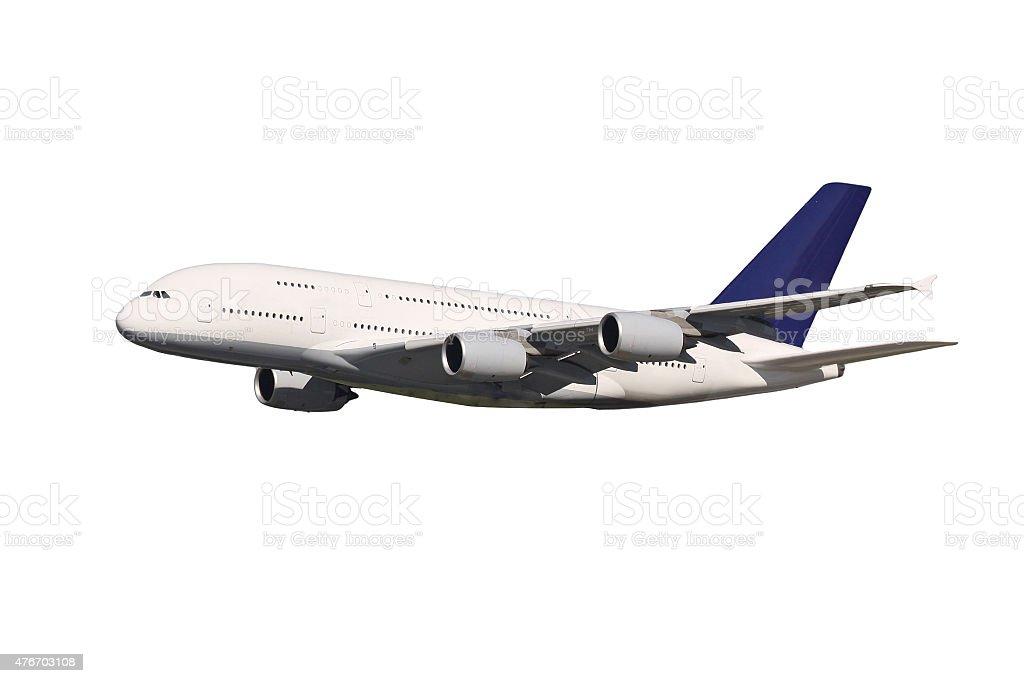 Huge plane stock photo