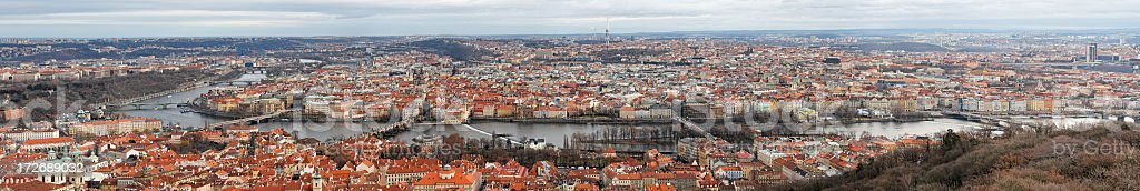 Huge Prague panorama royalty-free stock photo